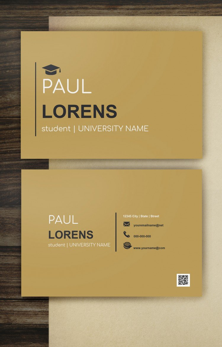 Student Business Card