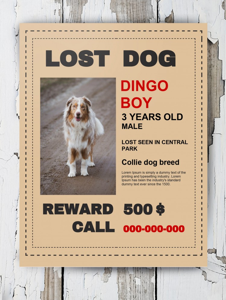 Free Lost Dog Poster Template In Google Docs