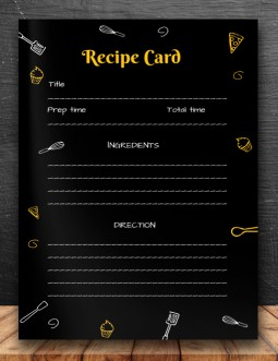 Stylish Recipe card