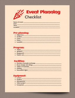 Perfect Event Planning Checklist Template